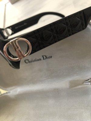 Christian Dior Retro Glasses black-silver-colored