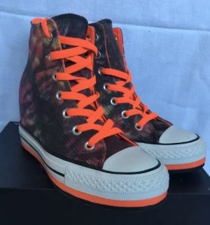 Converse Wedge Sneaker neon orange-black