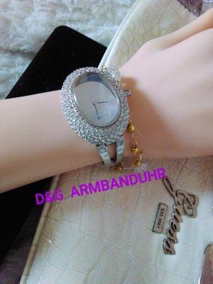 D&G Brazalete de plata color plata