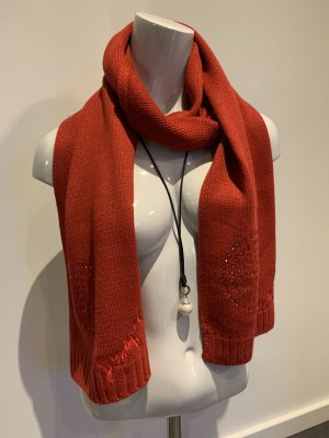 Desigual Knitted Scarf dark red
