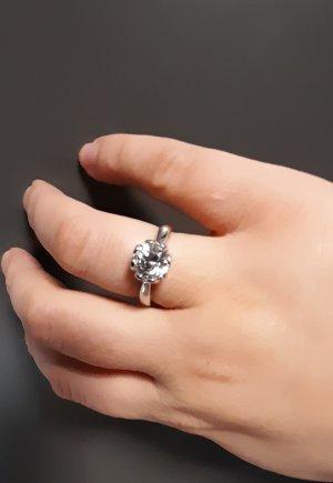 Diamonique Partner Ring white-silver-colored