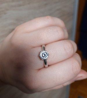 Diamonique Partner Ring silver-colored-white