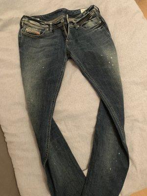 Diesel Low-Rise Trousers dark blue-slate-gray