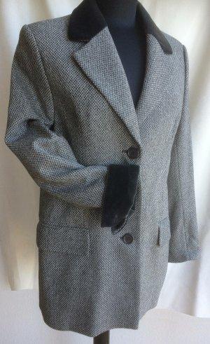 Dinovaliano Blazer en laine blanc-noir laine