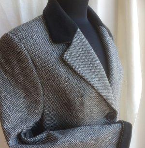 Dinovaliano Wool Blazer white-black wool