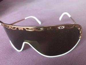 Christian Dior Gafas Retro blanco-color oro