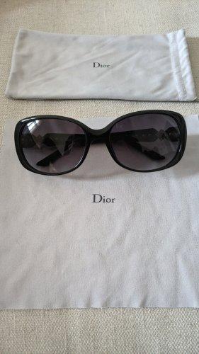 Christian Dior Lunettes de soleil ovales noir-doré