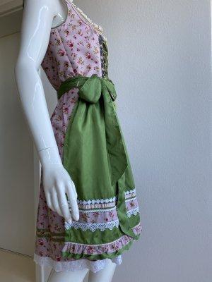 Distler Dirndl rosa chiaro-verde prato