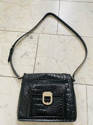 Original DKNY Tasche Kroko schwarz