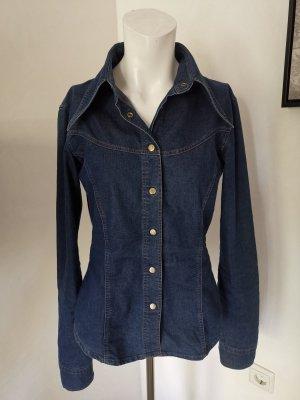 Dolce & Gabbana Denim Shirt steel blue mixture fibre