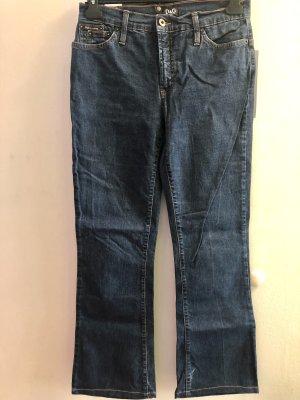 Dolce & Gabbana Jeans taille haute bleu foncé