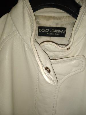 Dolce & Gabbana Blouson oatmeal leather