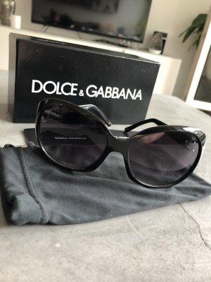 Dolce & Gabbana Occhiale da sole ovale nero-argento