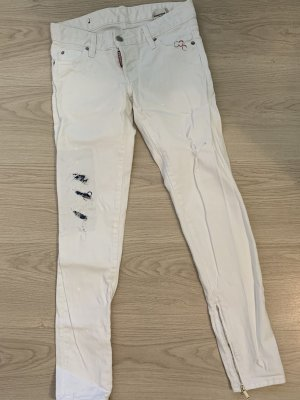 Dsquared2 Jeans cigarette blanc