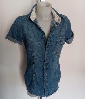 Original Dsquared2 Jeanshemd Jeans Bluse kurzarm Gr 36-38 ital 44