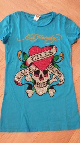 Original Ed Hardy T-Shirt in S mit Totenkopfmotiv