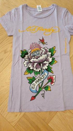 Original Ed Hardy T-Shirt mit Blumenprint in S