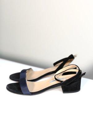 Original Emme Parsons Sandalen Suede Stoff Riemen Gr. 38 wie neu Schöne Sandalen vom amerikanischen Designerlabel Emme Parsons