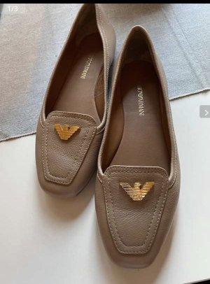 Emporio Armani Slip-on Shoes beige