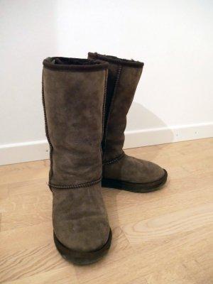Original EMU Stinger Hi Boots, Schokolade, Größe 35/36