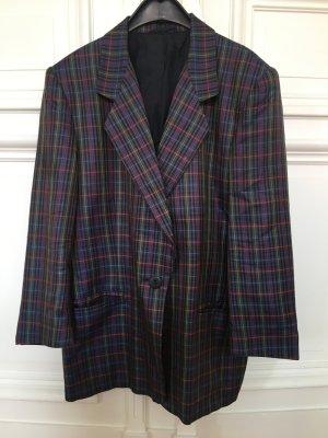 Original Escada 100% Seide Luxus Blazer Jacke Jacket gestreift Karo kariert multicolor reine Seide
