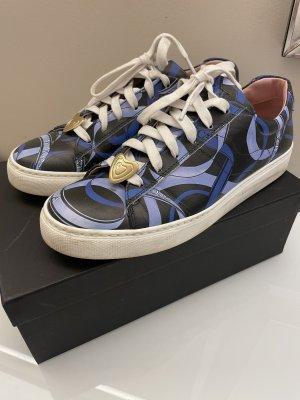 Original Escada Sneaker Turnschuhe blau schwarz 39