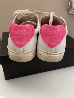 Original Escada Sneaker Turnschuhe weiß Pink 39 40