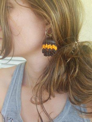 Etro Milano Statement oorbellen zwart-oranje