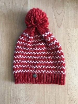 Crochet Cap white-red