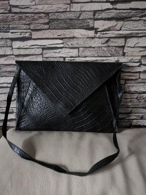 Original Fendi Clutch Tasche Vintage echt Leder schwarz