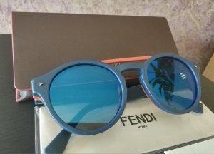 Fendi Lunettes rondes orange foncé-bleu foncé