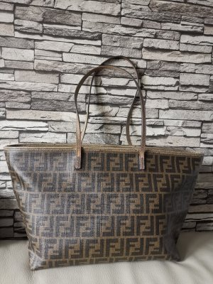 Original Fendi Vintage Tasche roll bag Zucca Tasche braun Shopper