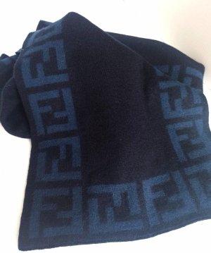 Fendi Bufanda de lana azul oscuro-azul aciano Lana