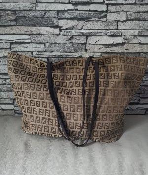 Fendi Shopper beige-bronze tissu mixte