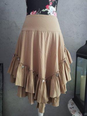 Flavio Castellani Broomstick Skirt camel cotton