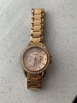 Original Fossiluhr in Rosé Gold