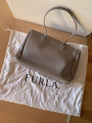Original Furla Handtasche grau