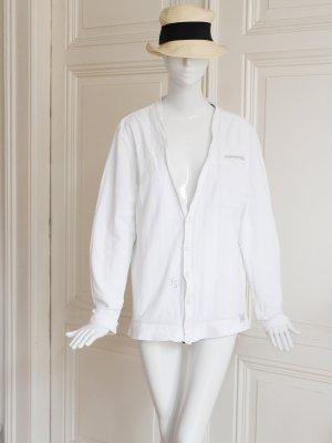 G-Star Raw Veste chemise blanc-noir coton