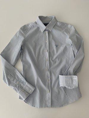 Gant Camicetta a maniche lunghe bianco-azzurro Cotone