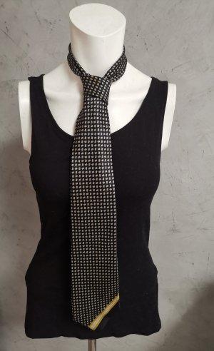Gianni Versace Voile noir-argenté soie