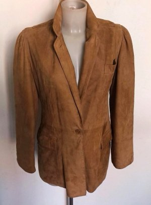 Giorgio  Armani Leather Coat bronze-colored leather