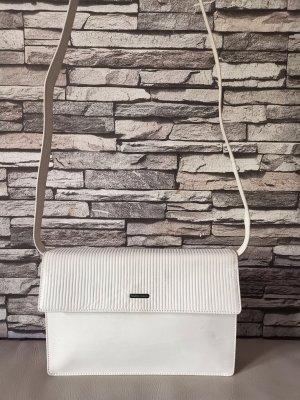 Original Giorgio Armani Valextra Designer Tasche Umhängetasche cremeweiß