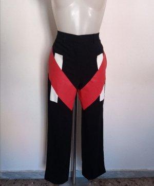 Original Givenchy Damen Hose schwarz rot Gr 34-36