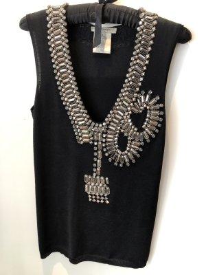 Givenchy Top negro-color plata