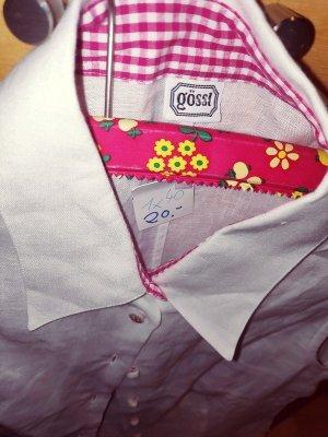 Original Gössl Trachtenmieder Gr 40 Weißes Trachtenhemd