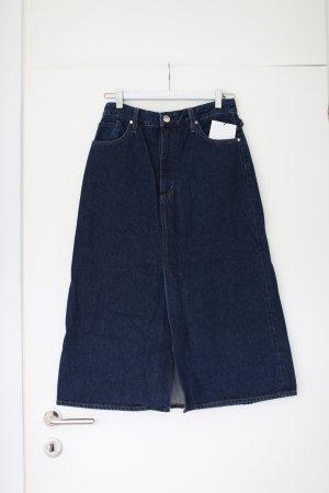 Original Goldsign Denim Skirt Jeans Rock Midirock Gr. M 28 dunkelblau neu mit Etikett