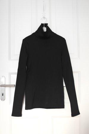 Original Goldsign Turtleneck Rib Top Pullover Oberteil schwarz Gr. S Neu mit Etikett