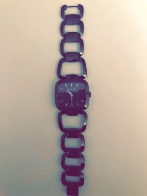 Gucci Watch With Metal Strap black