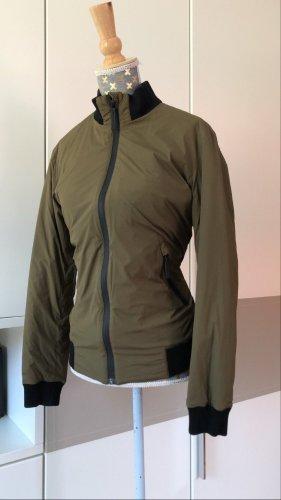 Gucci Chaqueta bomber marrón grisáceo-gris verdoso