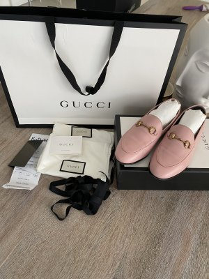 Gucci Babouche or rose-rosé cuir